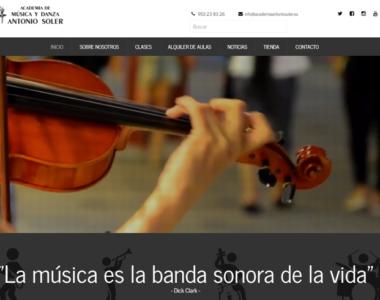 Nuestra academia de música y danza estrena página web